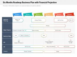 Six Months Roadmap Business Plan With Financial Projection