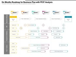 Six Months Roadmap For Business Plan With Pest Analysis