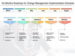 Six Months Roadmap For Change Management Implementation Schedule