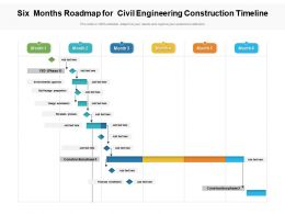 Six Months Roadmap For Civil Engineering Construction Timeline