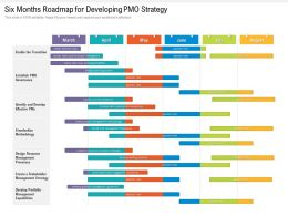 Six Months Roadmap For Developing PMO Strategy