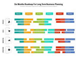 Six Months Roadmap For Long Term Business Planning