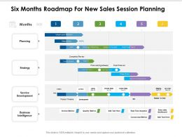 Six Months Roadmap For New Sales Session Planning