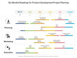 Six Months Roadmap For Product Development Project Planning