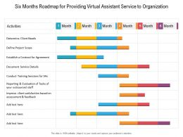 Six Months Roadmap For Providing Virtual Assistant Service To Organization