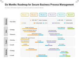 Six Months Roadmap For Secure Business Process Management