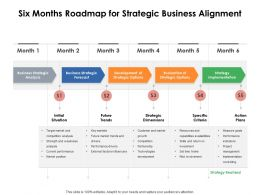 Six Months Roadmap For Strategic Business Alignment