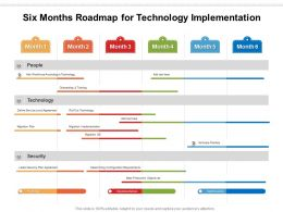 Six Months Roadmap For Technology Implementation