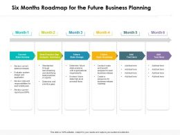 Six Months Roadmap For The Future Business Planning