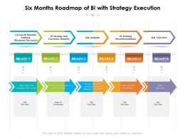 Six Months Roadmap Of BI With Strategy Execution