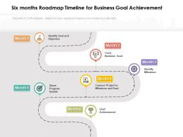 Six Months Roadmap Timeline For Business Goal Achievement