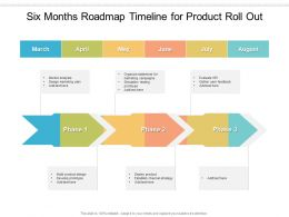 Six Months Roadmap Timeline For Product Roll Out
