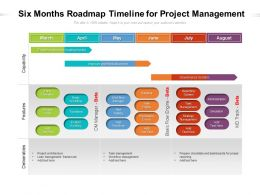 Six Months Roadmap Timeline For Project Management