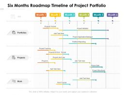 Six Months Roadmap Timeline Of Project Portfolio