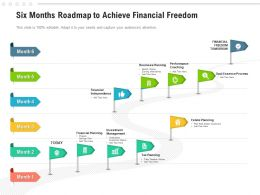 Six Months Roadmap To Achieve Financial Freedom