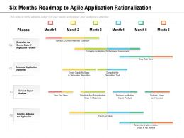 Six Months Roadmap To Agile Application Rationalization