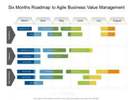 Six Months Roadmap To Agile Business Value Management