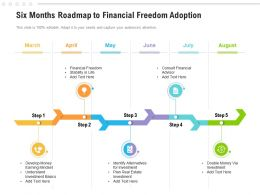 Six Months Roadmap To Financial Freedom Adoption