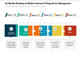 Six Months Roadmap To Modern Internet Of Things Device Management