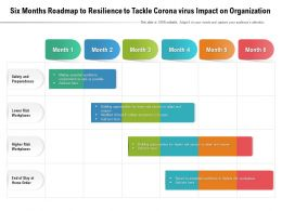 Six Months Roadmap To Resilience To Tackle Corona Virus Impact On Organization