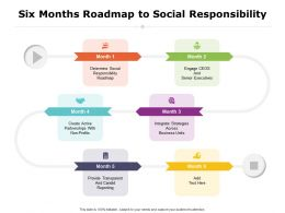 Six Months Roadmap To Social Responsibility
