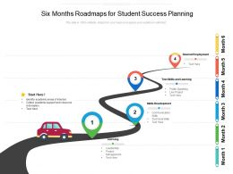 Six Months Roadmaps For Student Success Planning