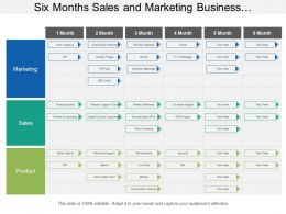 Six Months Sales And Marketing Business Development Swimlane