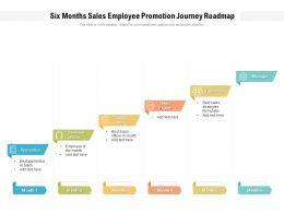 Six Months Sales Employee Promotion Journey Roadmap