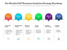 Six Months SAP Business Analytics Strategy Roadmap