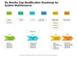 Six Months Sap Modification Roadmap For System Maintenance