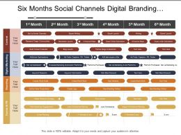 Six Months Social Channels Digital Branding Planning Marketing Timeline