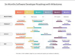Six Months Software Developer Roadmap With Milestones