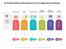 Six Months Software Development And Configuration Roadmap