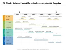 Six Months Software Product Marketing Roadmap With ABM Campaign