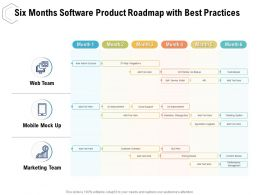 Six Months Software Product Roadmap With Best Practices
