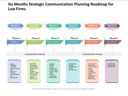 Six Months Strategic Communication Planning Roadmap For Law Firms
