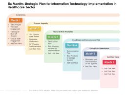 Six Months Strategic Plan For Information Technology Implementation In Healthcare Sector