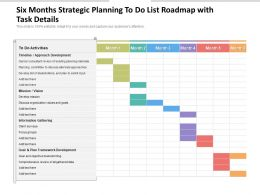 Six Months Strategic Planning To Do List Roadmap With Task Details