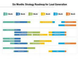 Six Months Strategy Roadmap For Lead Generation
