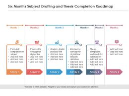 Six Months Subject Drafting And Thesis Completion Roadmap
