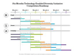Six Months Technology Enabled Diversity Initiative Competition Roadmap