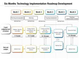 Six Months Technology Implementation Roadmap Development