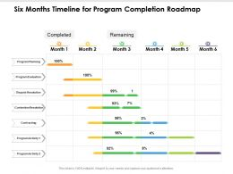 Six Months Timeline For Program Completion Roadmap