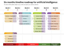 Six Months Timeline Roadmap For Artificial Intelligence