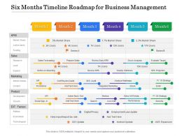 Six Months Timeline Roadmap For Business Management