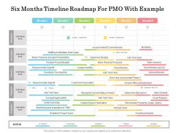 Six Months Timeline Roadmap For PMO With Example