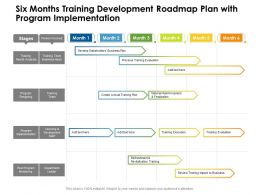 Six Months Training Development Roadmap Plan With Program Implementation