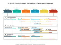 Six Months Training Roadmap For New Product Development By Manager
