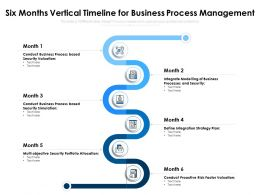 Six Months Vertical Timeline For Business Process Management