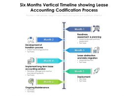 Six Months Vertical Timeline Showing Lease Accounting Codification Process